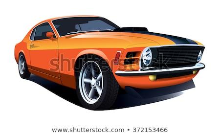 auto · racing · vector · lijn · iconen · snelheid - stockfoto © olena