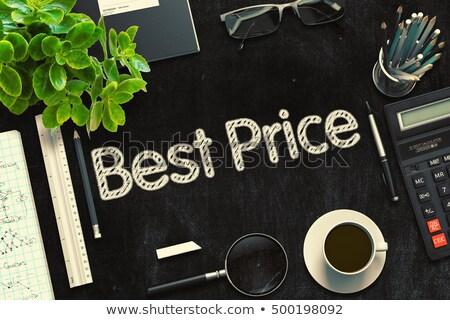 Price Handwritten on Black Chalkboard. 3D Rendering. Stock photo © tashatuvango