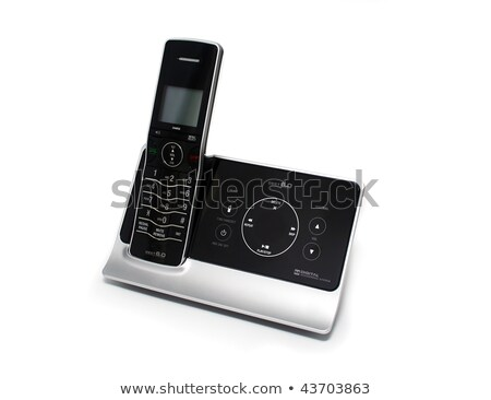Modern cordless phone with answering machine Stock photo © digitalr