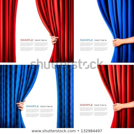 opening the curtains stock photo © pilgrimego