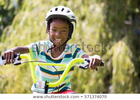 Open · fiets · zwarte · bloemen - stockfoto © is2