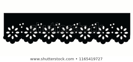 black satin with lace border stock photo © illustrart