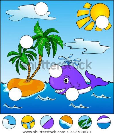 Kids cartoon Whale Find The Missing Piece Puzzle Stock photo © adrian_n