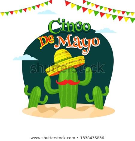 Mayonesa anunciante diseno cactus sombrero Foto stock © bluering