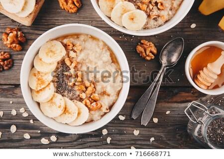 Kaşık tarçın kahvaltı tatlı gümüş Stok fotoğraf © Digifoodstock