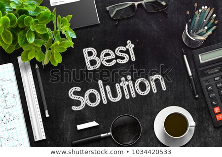 best solution on black chalkboard 3d rendering stock photo © tashatuvango