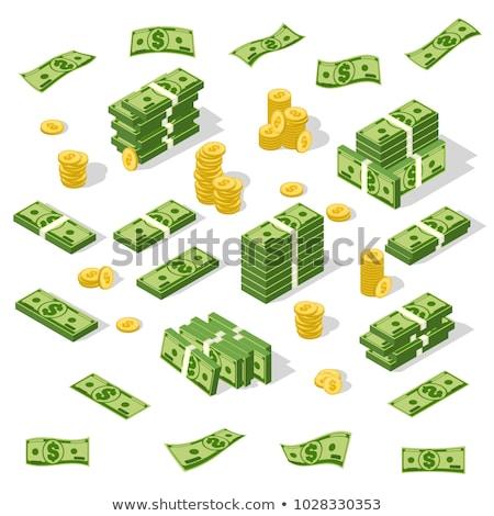 Dollár pénz bankjegy vektor rajz illusztráció Stock fotó © RAStudio