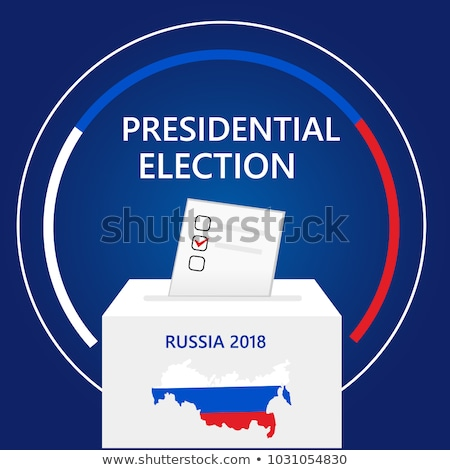 選挙 ロシア 色 ロシア フラグ バッジ ストックフォト © Oakozhan
