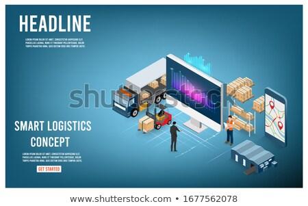 Meer Versandkosten Logistik kommerziellen Stock foto © studioworkstock