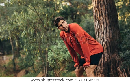 Jogger bos vrouw fitness opleiding Stockfoto © IS2