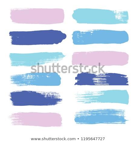 Azul roxo aquarela pintado mancha isolado Foto stock © balasoiu