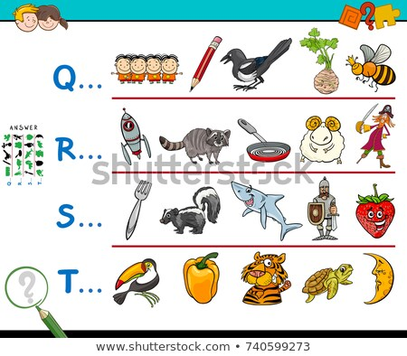 English word for starting with T illustration Stock photo © bluering