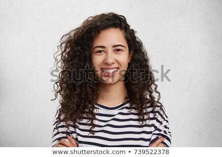 cabeça · ombros · retrato · atraente · chinês · mulher - foto stock © is2