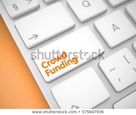 Fondsenwerving oplossingen witte toetsenbord 3D Stockfoto © tashatuvango