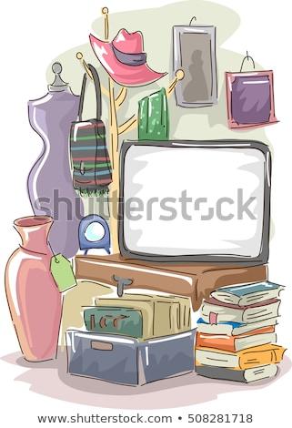 Garázs vásár tábla illusztráció nagy használt Stock fotó © lenm