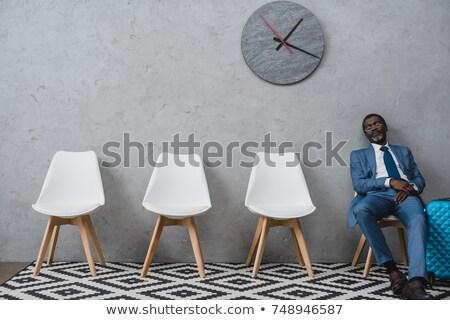 成熟した ビジネスマン 待合室 ビジネス ストレス ストックフォト © IS2