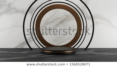 blank metal cylinder podium 4 stock photo © oakozhan