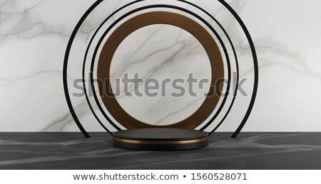 Metal cilindro pódio números classificar Foto stock © Oakozhan