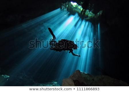 Oscuro cueva ilustración agua luz fondo Foto stock © bluering