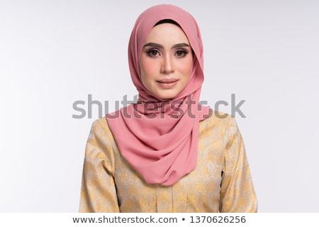 Portret jonge moslim vrouw traditioneel kleding Stockfoto © Traimak