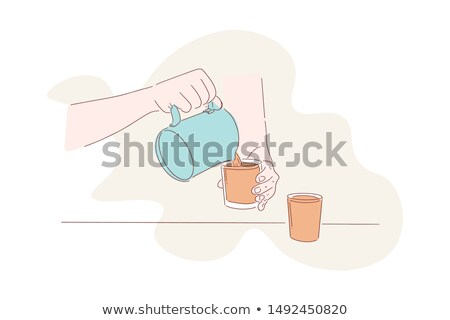 Bartender at work - cartoon people characters illustration Stock photo © Decorwithme