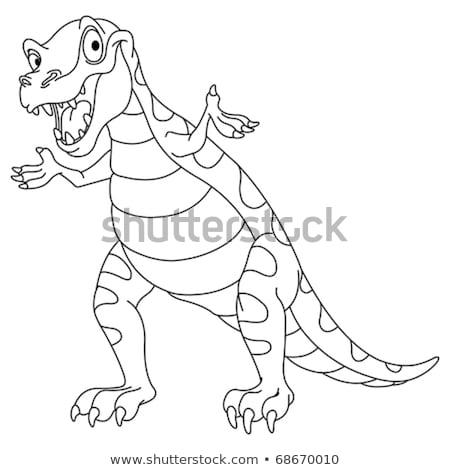 Dinoszaurusz kifestőkönyv ijesztő nagy hüllő nagy Stock fotó © popaukropa