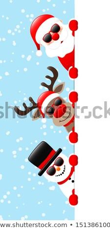 funny · Święty · mikołaj · kolekcja · cartoon · Święty · mikołaj - zdjęcia stock © liolle