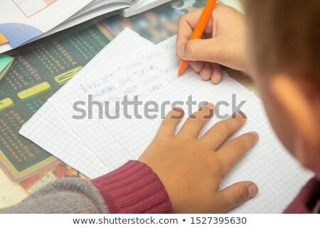 Spell English word desk Stock photo © bluering