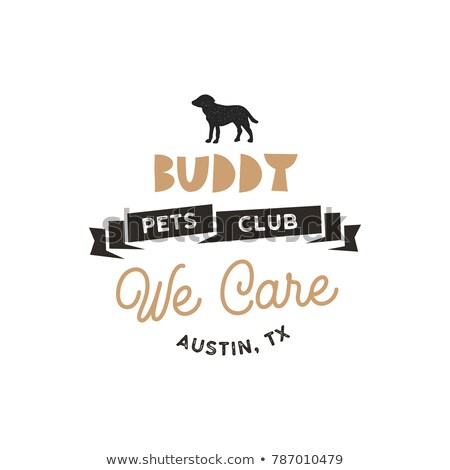 Buddy, pet club logo template. Pet silhouette label illustration isolated on white background. Moder Stock photo © JeksonGraphics