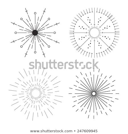 Handgemaakt lijn iconen cirkel schets objecten Stockfoto © Anna_leni
