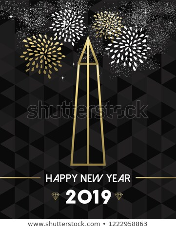 Nieuwjaar Washington USA reizen goud gelukkig nieuwjaar Stockfoto © cienpies
