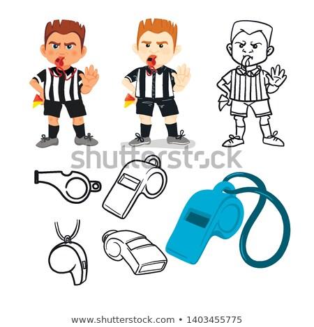 Cartoon entrenador signo ilustración deportes hombres Foto stock © cthoman