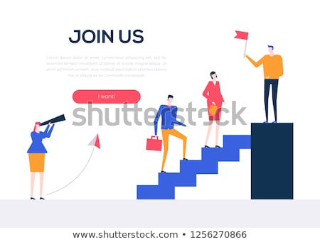join us   flat design style colorful web banner stock photo © decorwithme