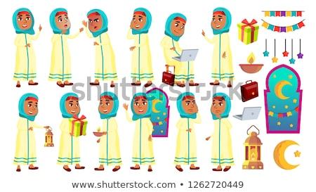 árabes musulmanes nina nino establecer vector Foto stock © pikepicture