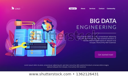 Big data engineering concept landing page. Stock photo © RAStudio