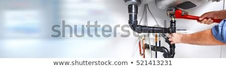 Plomberie Ouvrir la bannières installation réparation nettoyage Photo stock © -TAlex-