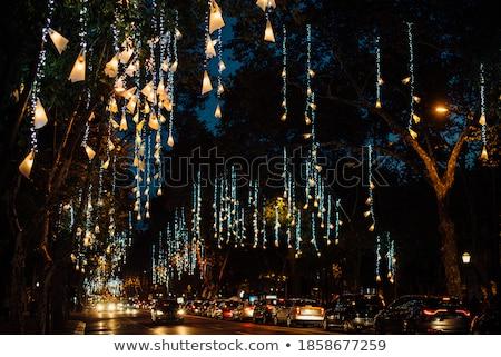 Lisbona Natale celebrazione Portogallo albero di natale commerce Foto d'archivio © joyr