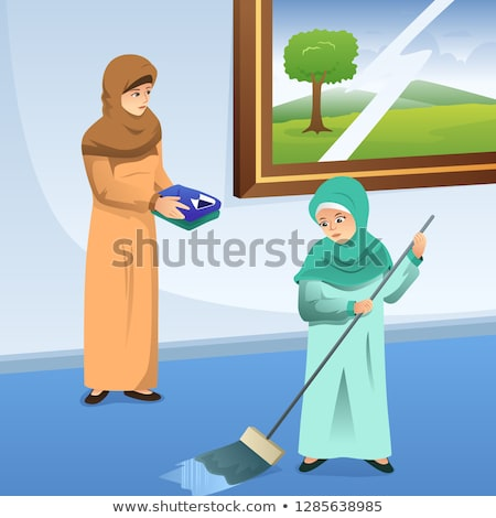мусульманских матери дочь работа по дому домой девушки Сток-фото © artisticco