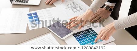Novo idéia engenharia bandeira equipe de negócios Foto stock © RAStudio