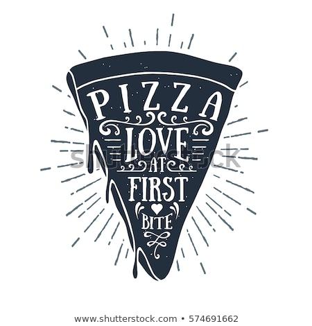 Pizza slice schets icon schets doodle Stockfoto © RAStudio