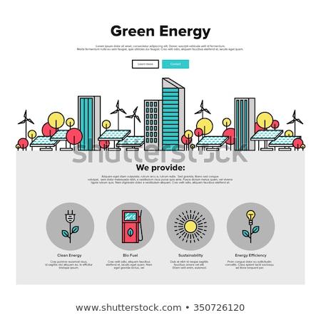 Energii ze źródeł odnawialnych banner ludzi biznesu czyste Zdjęcia stock © RAStudio