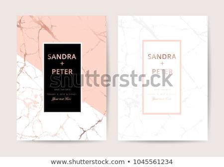 Modern prémium márvány névjegy terv üzlet Stock fotó © SArts