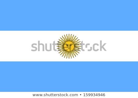 pavillon · Argentine · carte · silhouette · carte · pays - photo stock © butenkow