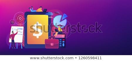 Przedsiębiorstwo rachunkowości banner pracy Zdjęcia stock © RAStudio