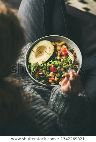 healthy vegetarian dinner stock photo © yuliyagontar
