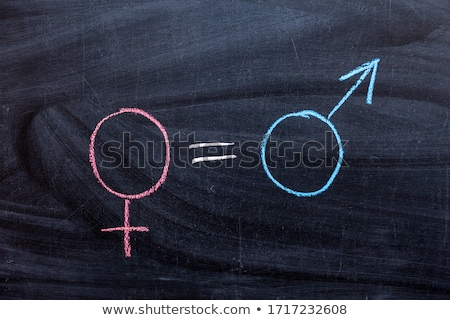 symbol for gender equality on a chalkboard stock photo © nito