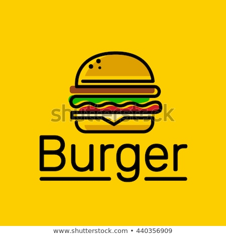 burger logo emblem colored shape line style Stock photo © Natali_Brill