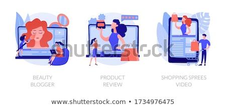 Shopping sprees video concept vector illustration. Stock photo © RAStudio
