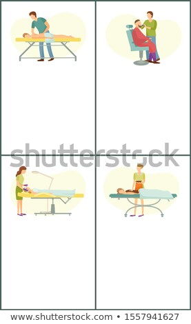 spa · procedure · haren · schoonheidssalon · cartoon · ingesteld - stockfoto © robuart