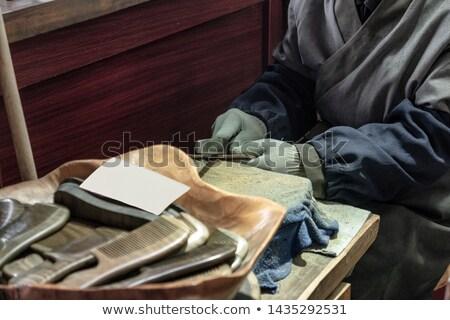 Tradicional chinês feito à mão cabelo pente Foto stock © szefei